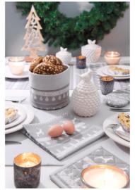 Tafelkleed kerst grijs 100*100