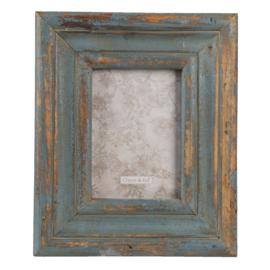 Brocante fotolijst oud groen 12*18