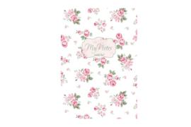Notitieboek Lucy roosjes roze  A5