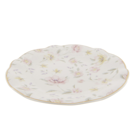Klein bord bloemen pastel 19*2