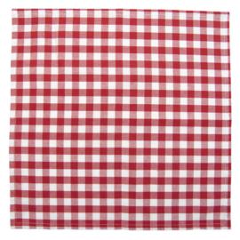 Landelijk servetten geruit rood (6)