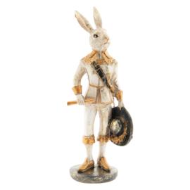 Decoratie konijn staand goud 7*7*23