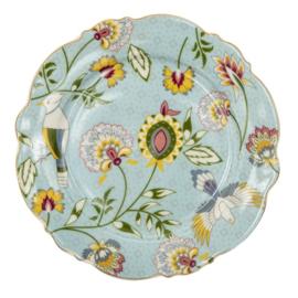 Ontbijtbord bloemen blauw