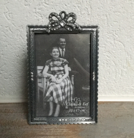 Fotolijst zilverkleur strik 10*15