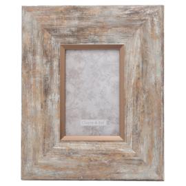 Landelijke fotolijst (S) hout look/rosé 10*15
