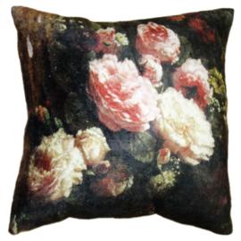 Kussenhoes met bloemen en rozen 45*45