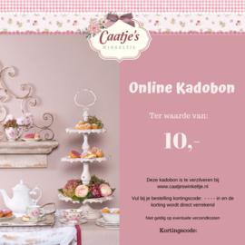 Online kadobon Caatje's winkeltje  t.w.v €10,00