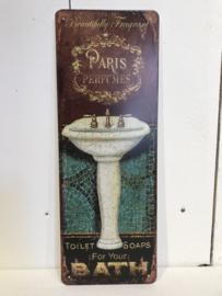Tekstbord / wandplaat Paris Perfumes
