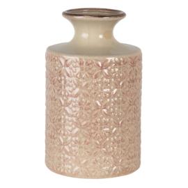 Vaas met motiefje roze 15*25