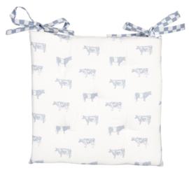 Landelijk stoelkussen met foam koeien