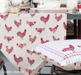 Landelijke ovenhandschoen kippen rood