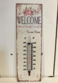 Temperatuurmeter rozen welcome