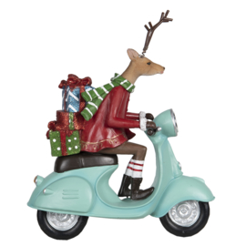 Decoratie hert op scooter