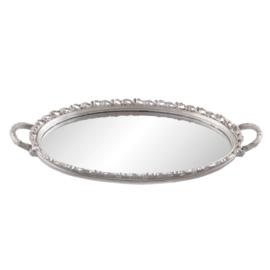 Dienblad met spiegel zilverkleur 49*29*3