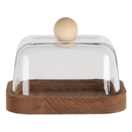 Botervloot hout/glas