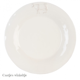 Ontbijt / gebaksbord koe 24 cm