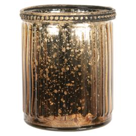 Waxinelichthouder goud/brons 8*9