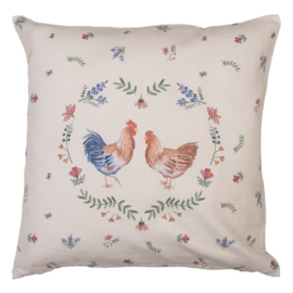 Kussenhoes Chicken and Rooster 40*40
