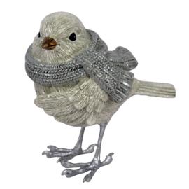 Decoratie vogel met sjaal