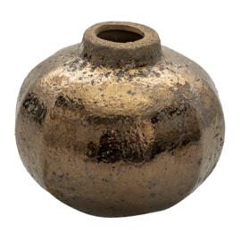 Decoratie vaasje keramiek brons 12*10