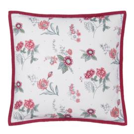 Kussenhoes bloemen roze/rood