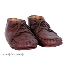 Decoratie set baby schoenen bruin