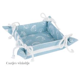 Broodmandje Sea Shells blauw