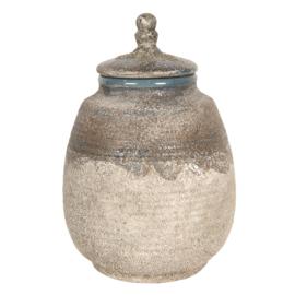 Decoratieve pot met deksel 15*23