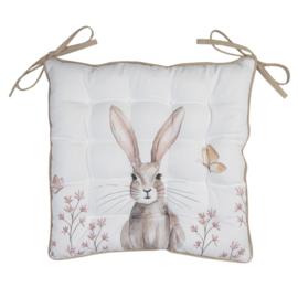 Stoelkussen met foam Rustic Easter Bunny