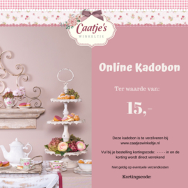 Online kadobon Caatje's winkeltje  t.w.v  €15,00