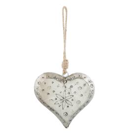 Hanger hart antiek zilver 12*12