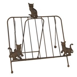 Boekenstandaard met katten