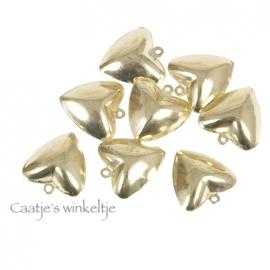 Bel hartje goud 2,5 cm KN16