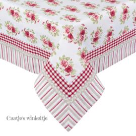 Tafelkleed vierkant roosjes 150*150