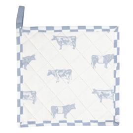 Landelijke pannenlap met koeien