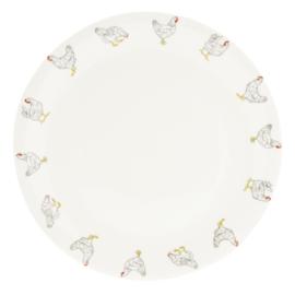 Diner bord met kippen 28 cm
