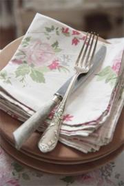 Stoffen servet met rozen 35*35