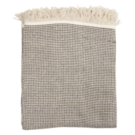 Katoenen plaid klein ruitje 125*150