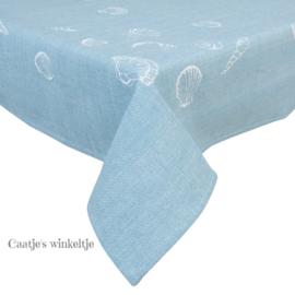 Tafelkleed schelpen Sea Shells blauw 130*180