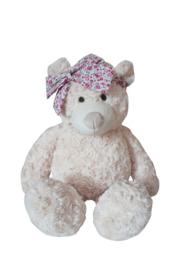 Pluche teddybeer met strik 40cm