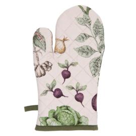 Ovenhandschoen groenten print 16*30
