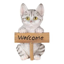 Decoratie kat Welcome