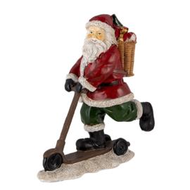 Decoratie Kerstman op step