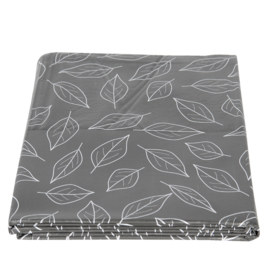 PVC tafelkleed grijs 137*180