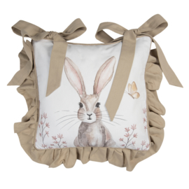 Stoelkussenhoes Rustic Easter Bunny