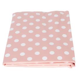 PVC tafelkleed roze dots 137*180