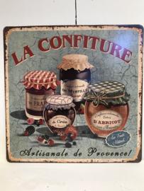 Tekstbord / wandplaat La Confiture