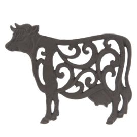 Ijzeren pannenonderzetter koe
