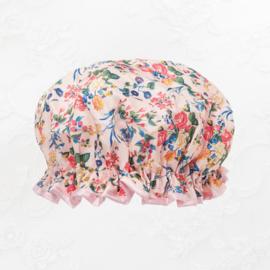 Vintage shower cap roosjes