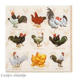 Servetten hanen en kippen (20)
